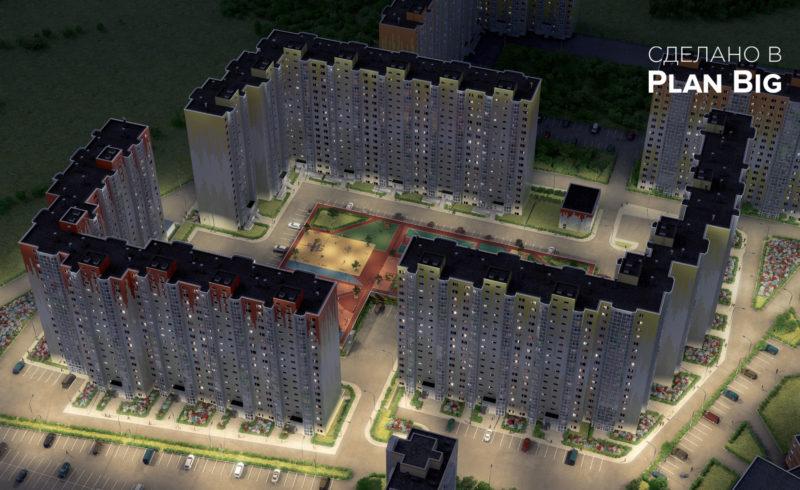 3D визуализация ЖК «Зеленоградский»