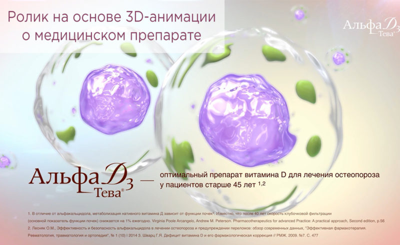 Ролик на основе 3D-анимации о медицинском препарате